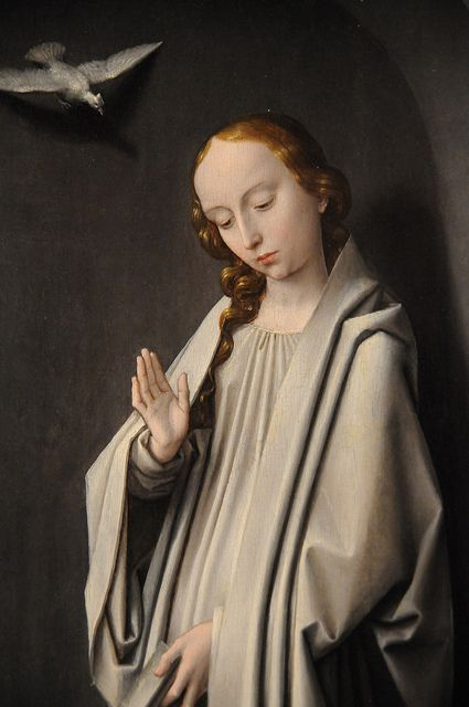 Gerard David, Archangel Gabriel; The Virgin Annunciate, 1510