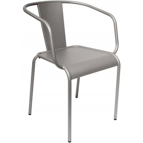 Our Hope stacking arm chair features powder coated tubular steel in a titanium silver finish. If you've ever wanted a modern industrial look for your outdoor dining area, Hope is the chair for you. Order online today http://contractfurniture.com/restaurant-hospitality-furniture/hope-stacking-arm-chair/ or call us at 800.507.1785