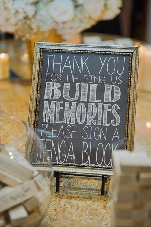 A Jenga guest book! | Brides.com