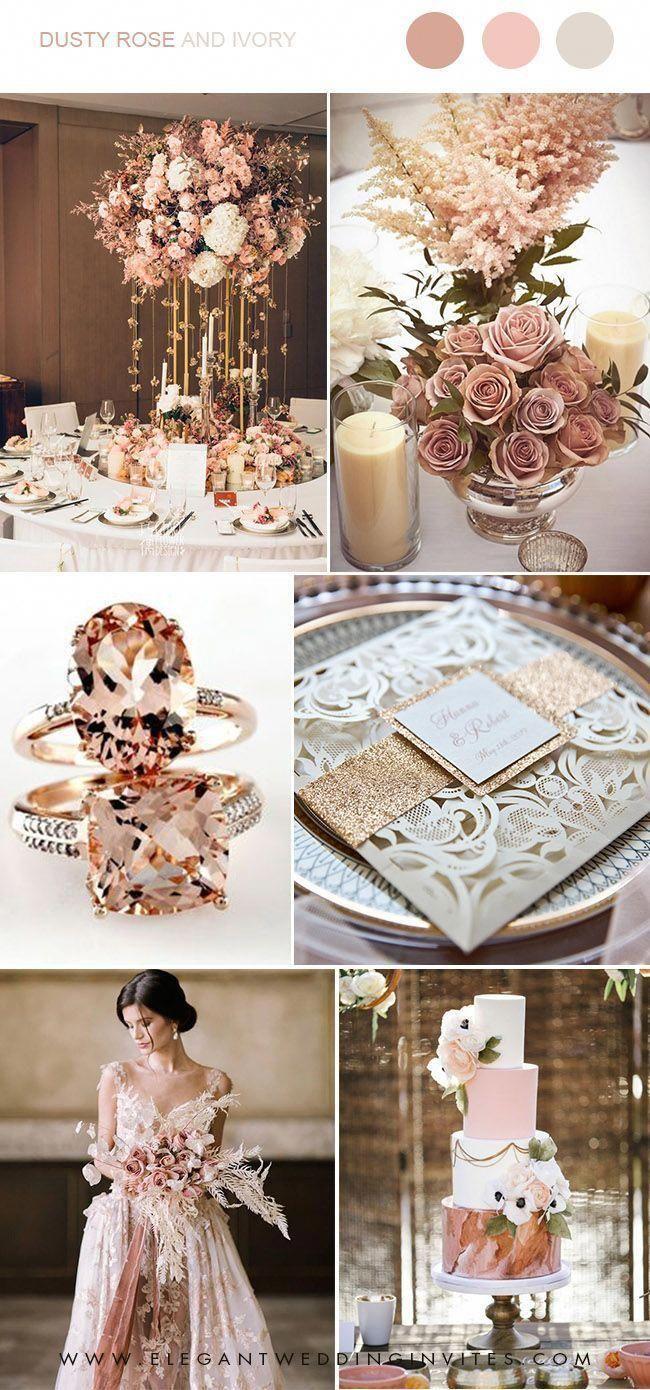 Trending 7 Gorgeous Dusty Rose Wedding Colors For Brides To Try In 2019 Elegantweddinginvites Com Blog In 2020 Wedding Rose Gold Theme Dusty Rose Wedding Colors Gold Wedding Theme