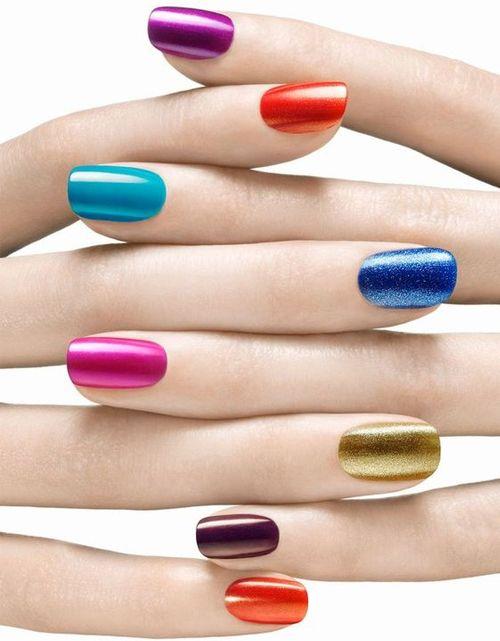 Attractive Multicolor Nail Art Designs for Girls