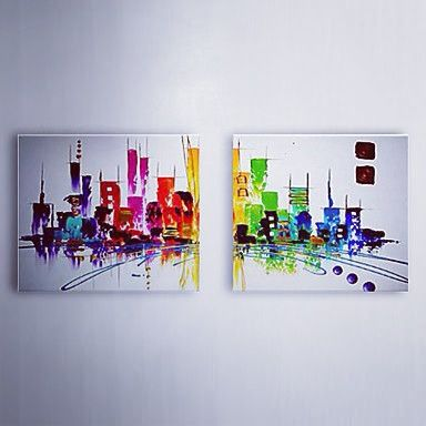 Abstract imports.com art. The colour of two cities :)
