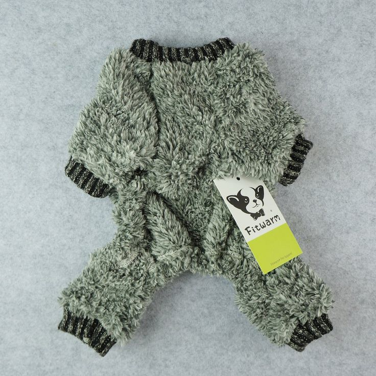 Fitwarm Fuzzy Velvet Thermal Pet Clothes for Dog Pajamas