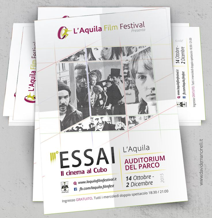 Grafica Volantini - flyer per evento #festival #cinema #graphicdesign #poster #flyer