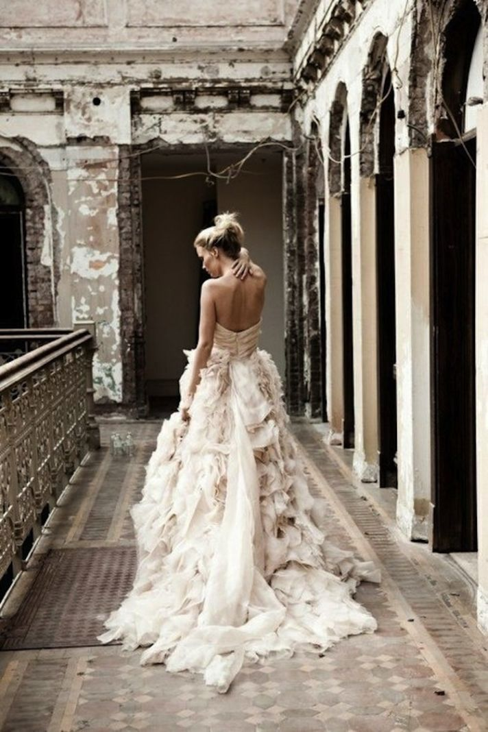 17 best ideas about ruffle wedding dresses on pinterest for Wedding dresses with ruffles