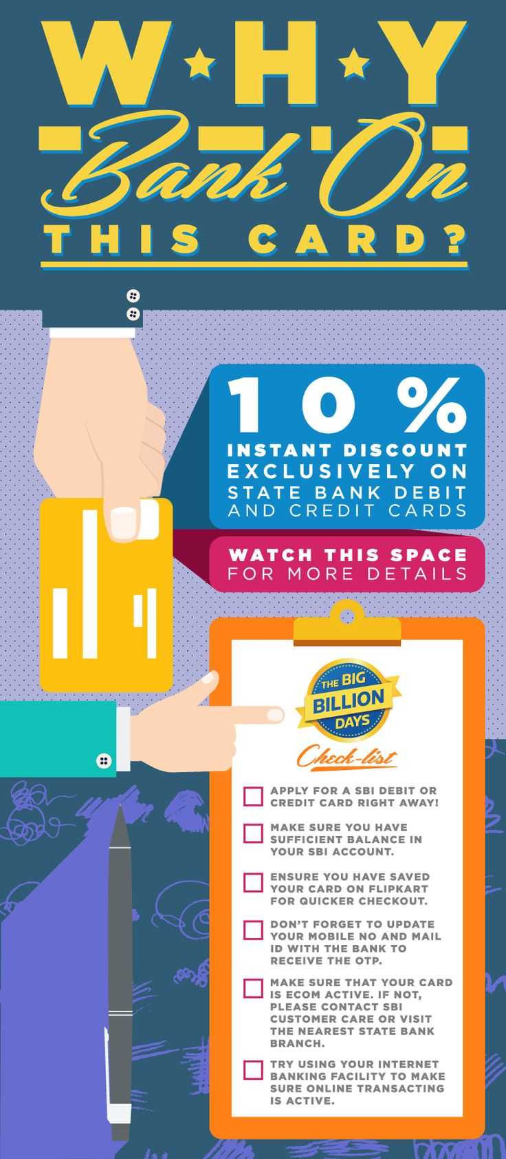 SBI debit and credit card offers for Big Billion Days 2016