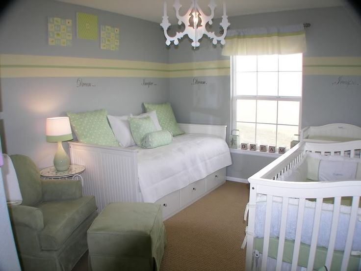 adorable nursery with a daybed option..i already have the bed. its from ikea!