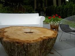 tree stump furniture. tree stump furniture love it with a pop paint color on the top or