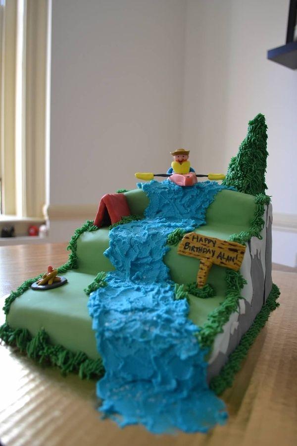 Best 20 Kayak Cake Ideas On Pinterest Surfboard Cake