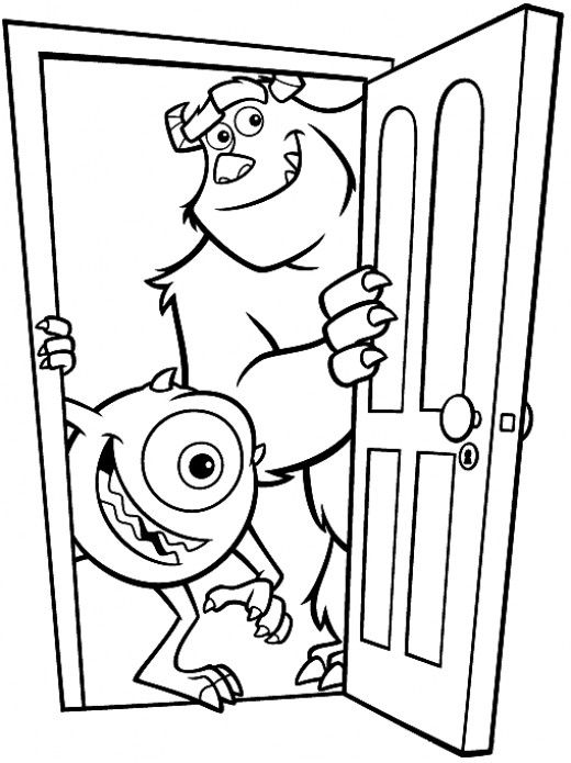disney monster inc coloring pages