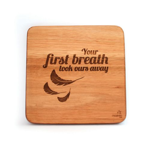 """Your first breath took ours away."" These words are so heart-felt and just beautiful for a nursery."