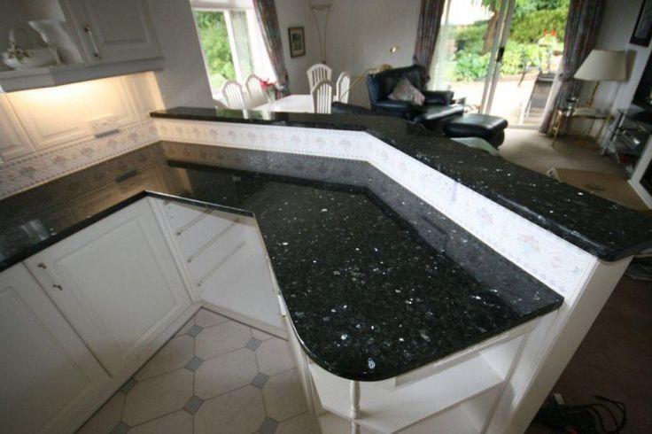 White Kitchen Cabinets With Emerald Pearl Granite Kitchens