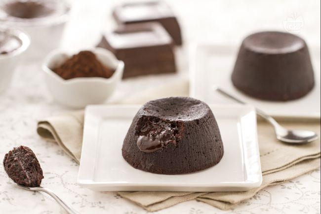 Tortini di cioccolato con cuore fondente