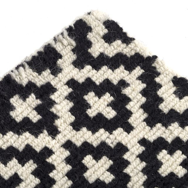 Other Image NEVIO Black and White Tufted Wool Rug La Redoute Interieurs