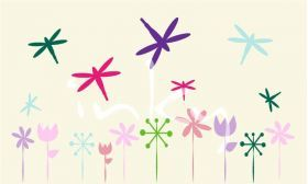 Inky Design Dragonfly Garden. wall decal. removable wall decorations for girls