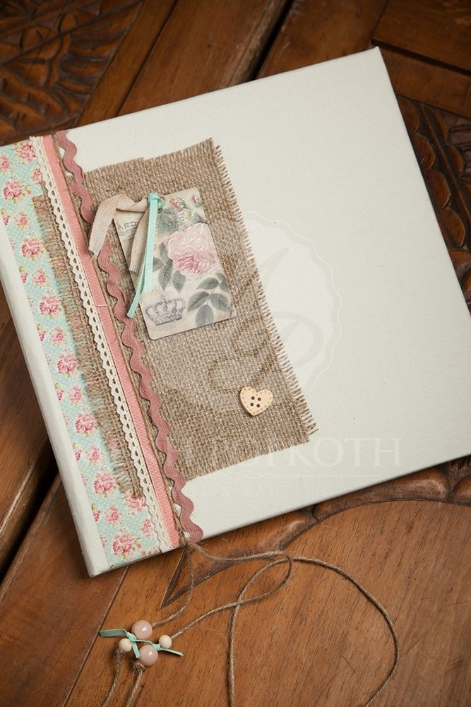 Vintage girl's Christening guest book