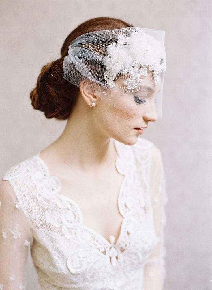 Erica Elizabeth headpiece   Claire Pettibone wedding dress. Caroline Tran Photography.