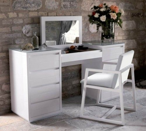 Large Dressing Table with Mirror by Costantini Italy | Modern Bedrooms