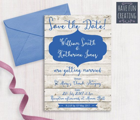Wedding Invitation: Rustic Wood  Print at home by havefuncreating