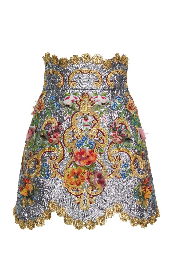 High Waisted Floral Skirt by DOLCE & GABBANA for Preorder on Moda Operandi