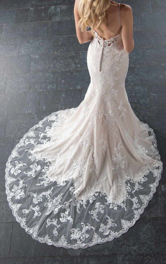 3fb7b2a388 Classic Fit and Flare with Pearl-Finished Lace - Stella York Wedding ...
