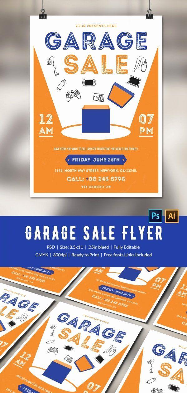 Garage Sale Flyer Template Free Inspirational 14 Best Yard Sale Flyer Templates Psd Designs Flyer Sale Flyer Flyer Template