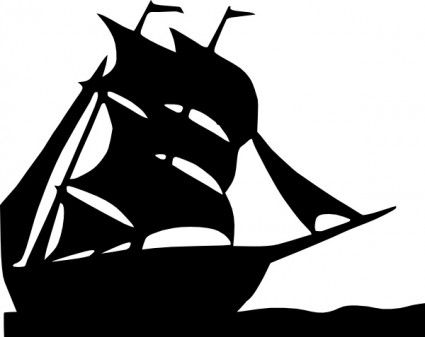 image silhouette | Free vector >> Vector clip art >> Sailing Boat Silhouette clip art