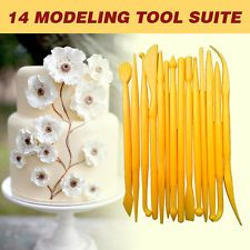 14 Pcs Sugarcraft Cake Decorating Fondant Icing Plunger Cutters Tools Mold