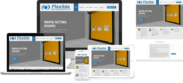 Forge Online creates yet another stunning example of contemporary and functionally powerful Open Source website design for Flexible Doors.