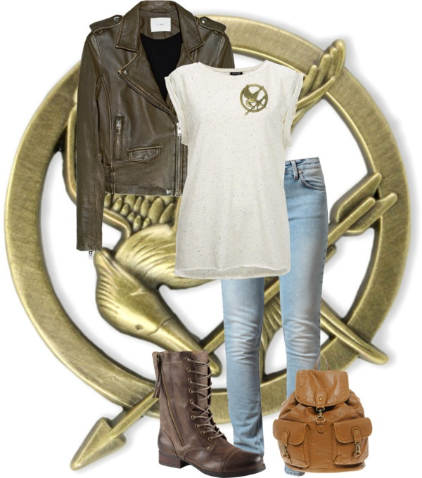 """Hunger Games Inspired Outfit."" by aerochic ❤ liked on Polyvore"
