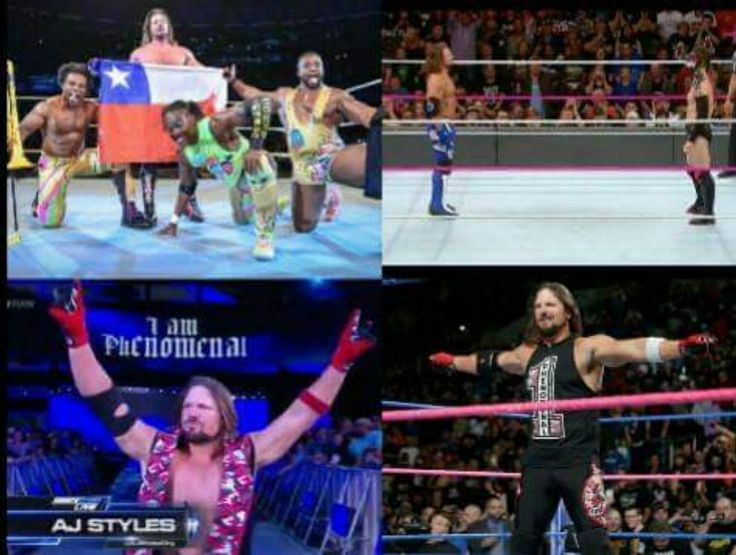 Saturday:Chile Sunday:TLC Monday:RAW Tuesday: Smackdown Live The Phenomenal One AJ Styles is the new work horse of WWE & the face that runs the place