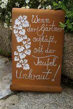 Edelrost Tafel Gärtner gewellt Spruch Garten Metall Tafel Rost Schild Text Deko