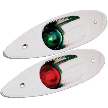 SeaDog 400180 Flush Mount Port & Starboard Side Lights , 10 Point Light Arc , Uscg 1 NM Approved , #8 Fastener
