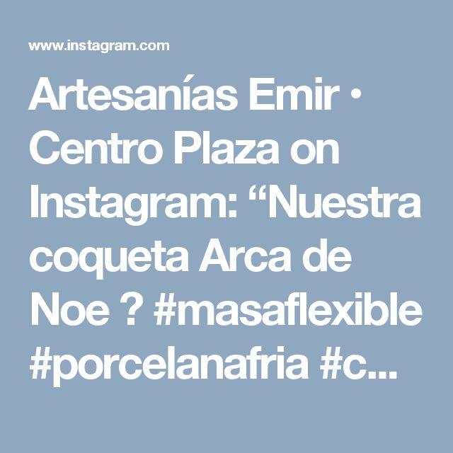 """Artesanías Emir • Centro Plaza on Instagram: """"Nuestra coqueta Arca de Noe 😍 #masaflexible #porcelanafria #coldporcelain #polimerclay #clay #hechoamano #handmade #hechoenvenezuela…"""" • Instagram"""