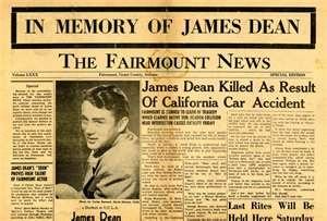 James Dean. Old Newspaper Article