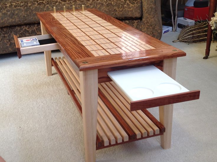 Cribbage board coffee table More - 25+ Best Ideas About Cribbage Board On Pinterest Cool Board