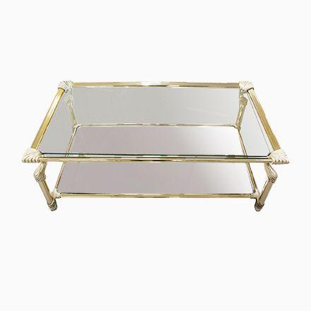 Vintage Couchtisch mit Messing-Rahmen und Glas & Spiegel Platten von M... Jetzt bestellen unter: https://moebel.ladendirekt.de/wohnzimmer/tische/couchtische/?uid=1b035ac1-7834-5d67-b141-4bbb49097b68&utm_source=pinterest&utm_medium=pin&utm_campaign=boards #wohnzimmer #couchtische #tische