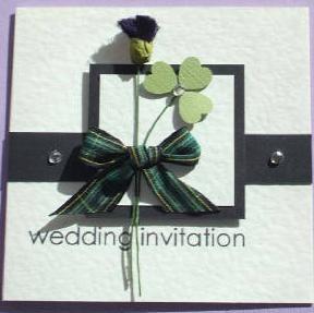 Scottish & Irish Wedding Invitation Wonder if I could do this for a Scottish & welsh theme??