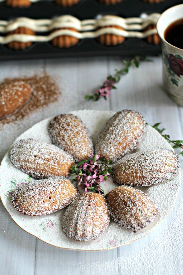 Pumpkin Madeleines with Cinnamon Frosting - Peas and Peonies