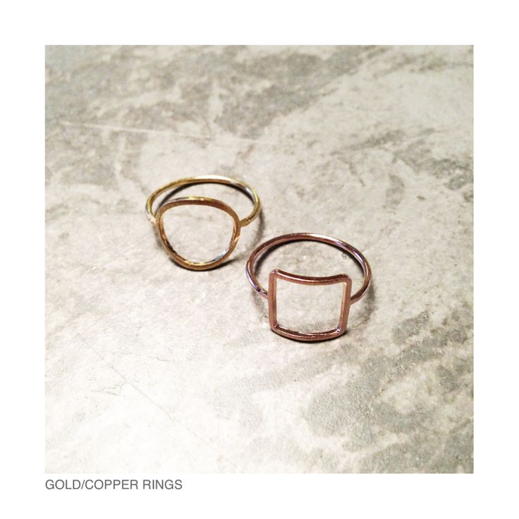 Gold/copper rings
