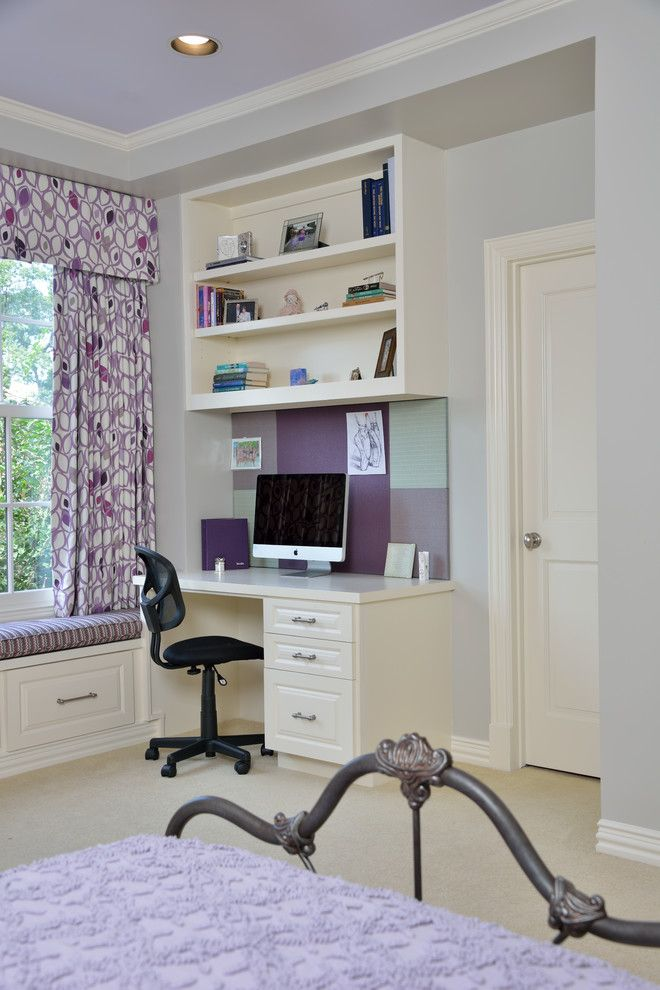 built in desk ideas | ... ideas with bedding Bedroom Bellaire bench seat blue built in desk