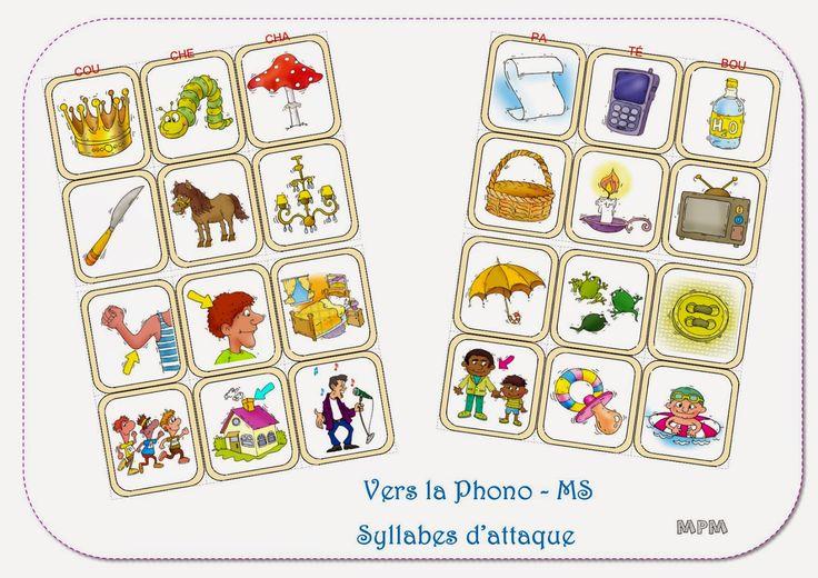 Ma petite maternelle: Phonologie - Famille de syllabes d'attaque