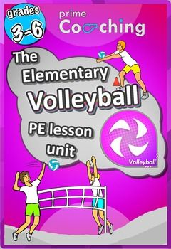 **Update - All new easy to follow diagrams, and links to instructional videos for each skill.Are you wanting to deliver high-quality PE, and Volleyball for your class as an elementary teacher? Here we don't just have games to play, we have a professional, structured volleyball program to implement at your school.This Prime Coaching Volleyball pack is formulated to enhance and broaden your skills and CONFIDENCE in the physical education realm of primary school teaching.