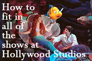 Hollywood Studios - Ideas on how to tour so you can see all of the shows