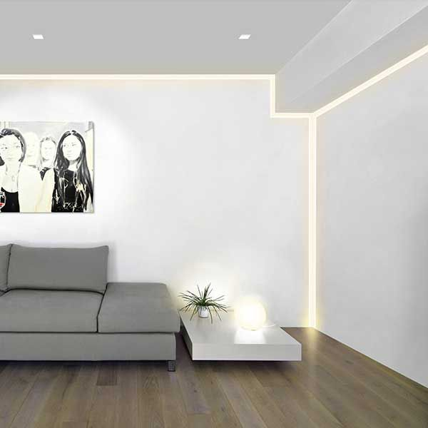 Verge LED Linear Plaster-In System by Pure Lighting | VG-2WDC-5FT-24K-AL