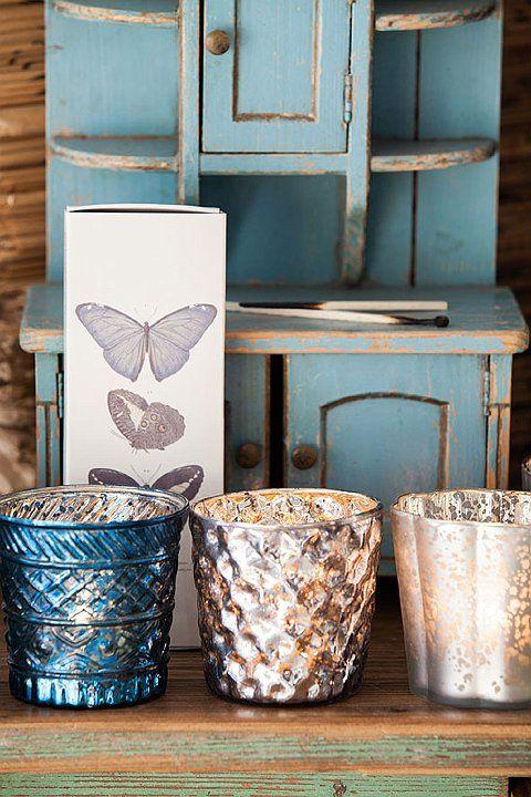 Combinación de azules y plateado #estilonordico #Affari