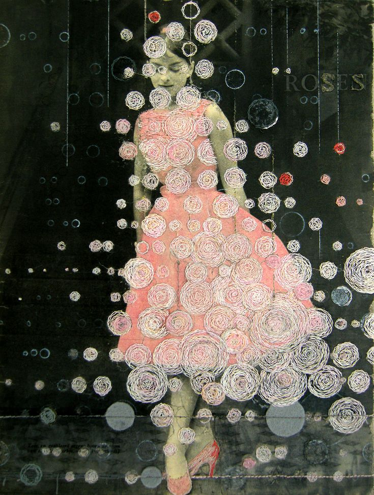 Artist Hinke Schreuders Alters 1950s Advertising and Fashion Photography with Hand-Stitched Embroidery http://www.thisiscolossal.com/2014/08/embroidered-images-hinke-schreuders/