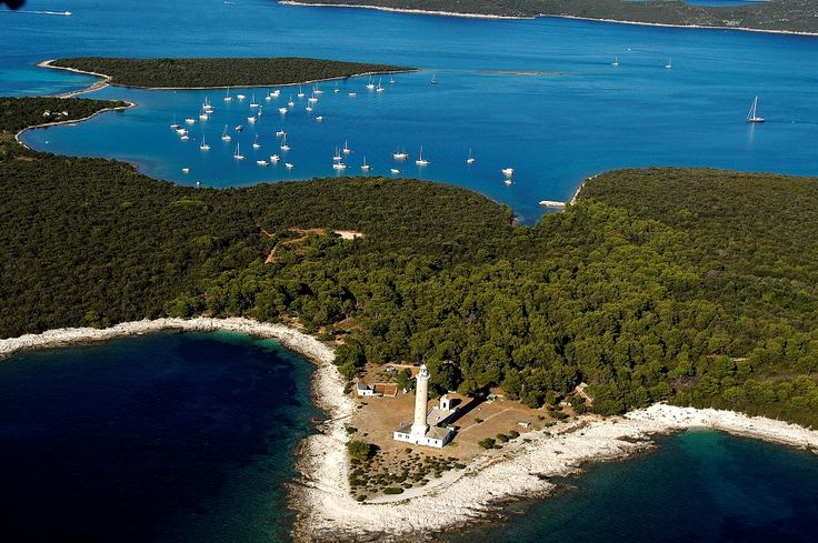 Veli rat lighthouse, Dugi otok, Croatia