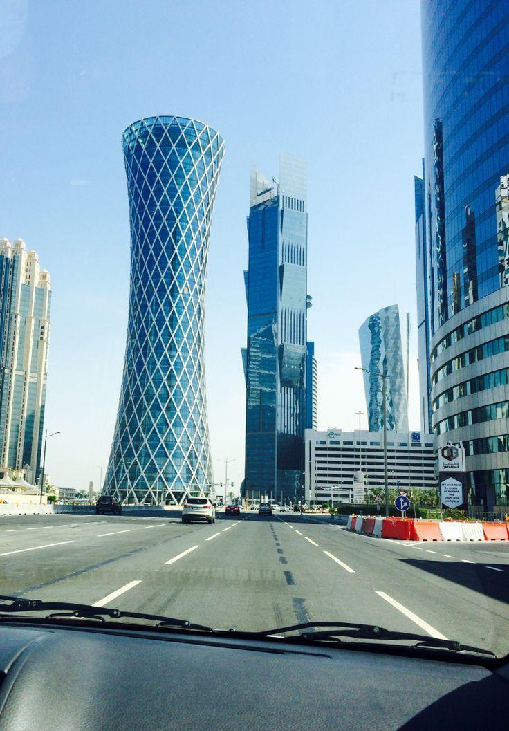 #ontheroad #tornado #tower #doha