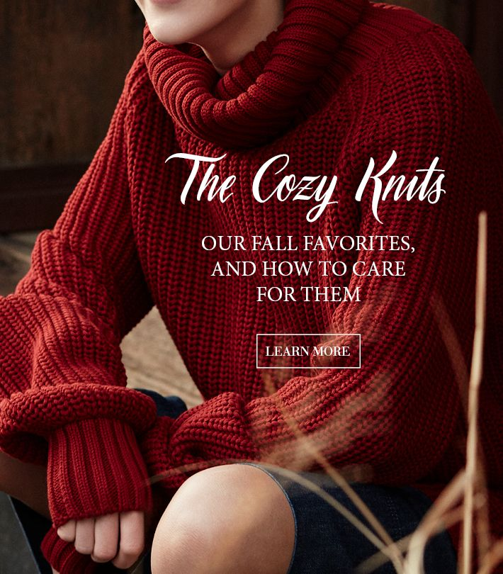 Which will be your new favorite? Our knitted sweaters in premium fabrics and colors of the season will keep you warm and stylish.